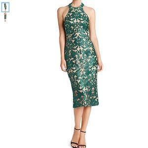 🆕 DRESS THE POPULATION green sequin halter dress
